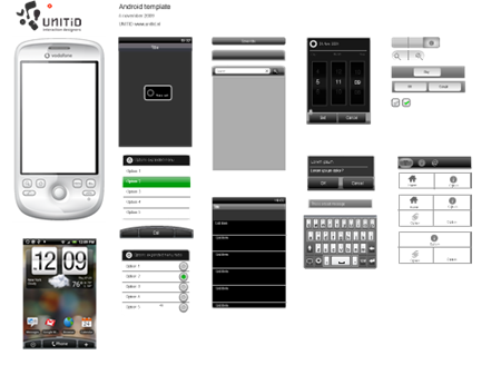 free android gui psd design template android gui design free