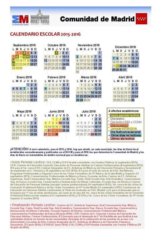 Calendar 2015/16