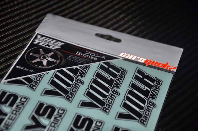 Volk Rays Racing TE37 - Bronze Colour Sticker decal