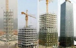 شركة صينية تبني فندقاً من 30 طابقاً في 360 ساعة