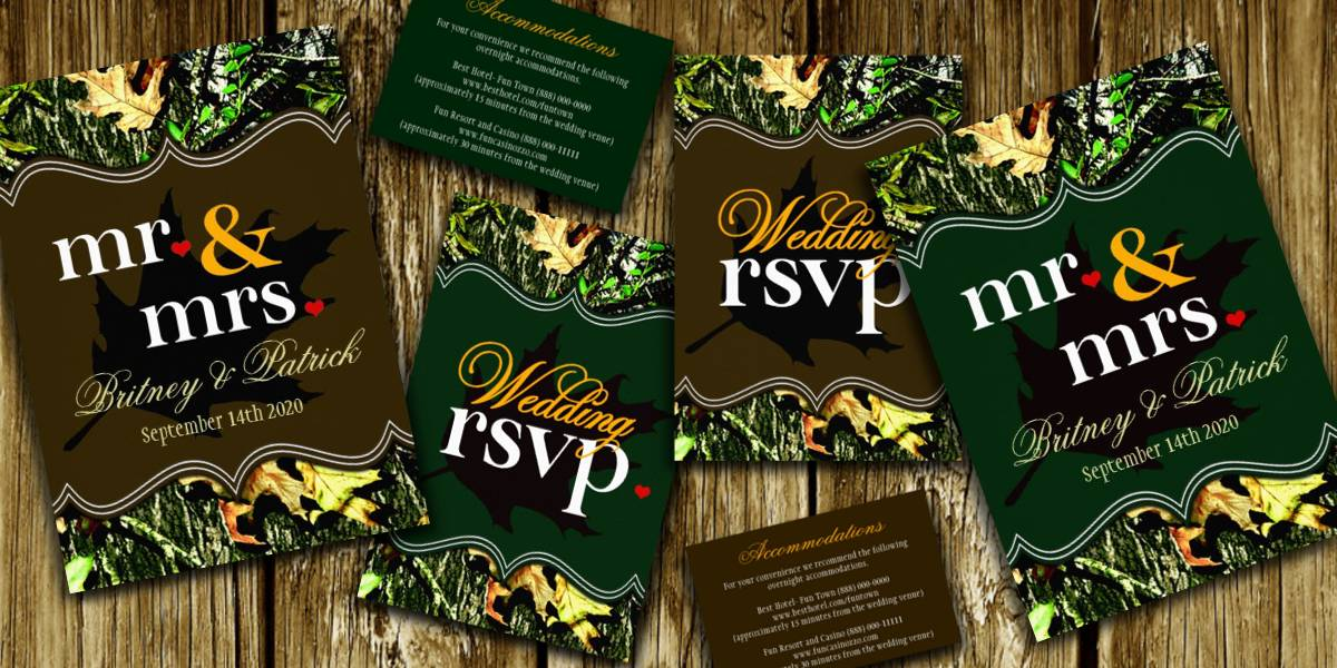Wedding Invitation Themes Camo Wedding Invitations