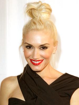 Gwen Stefani works a winter hairstyle.