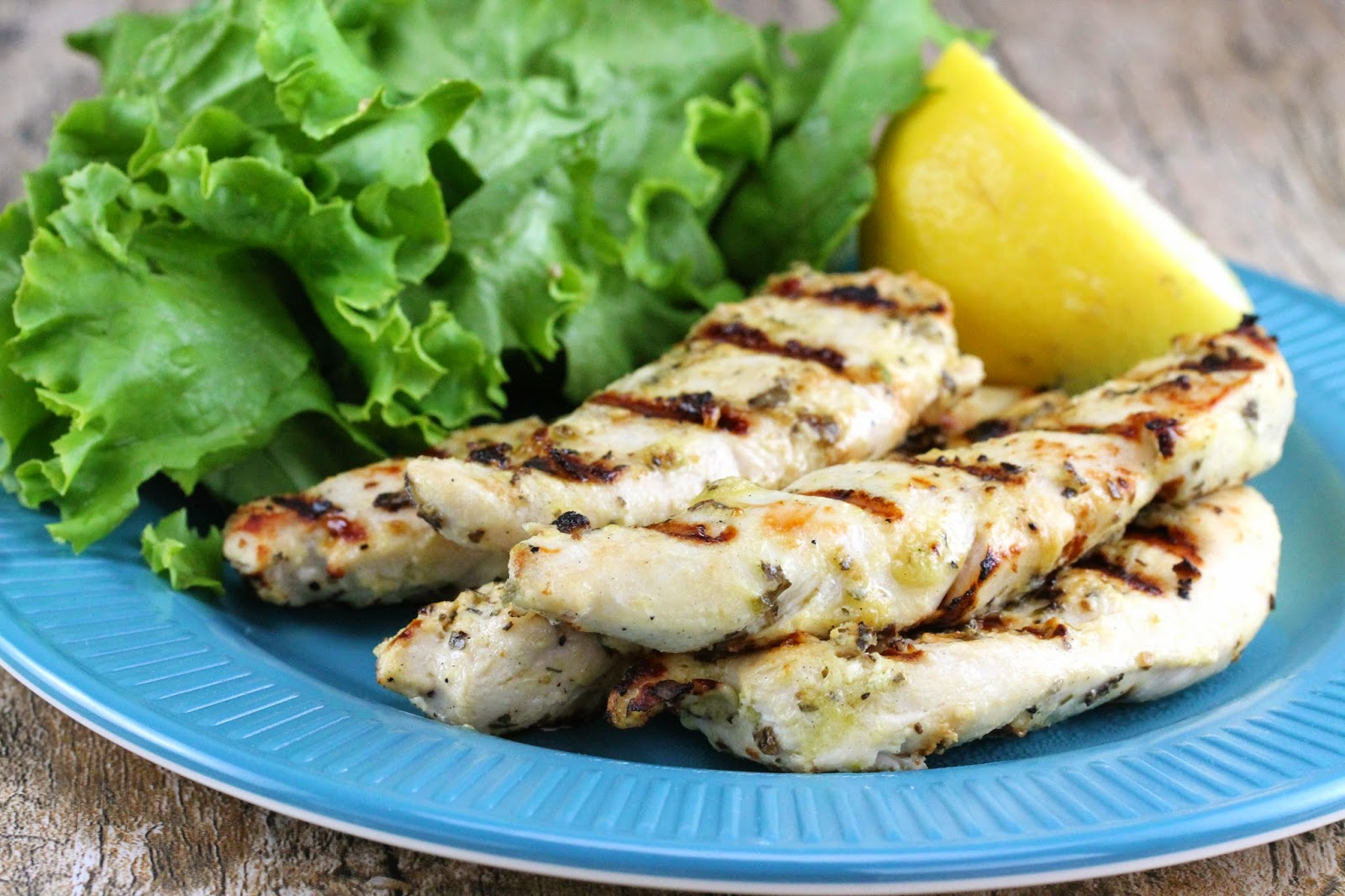 The Stay At Home Chef: Quick Grilled Lemon Chicken Tenders