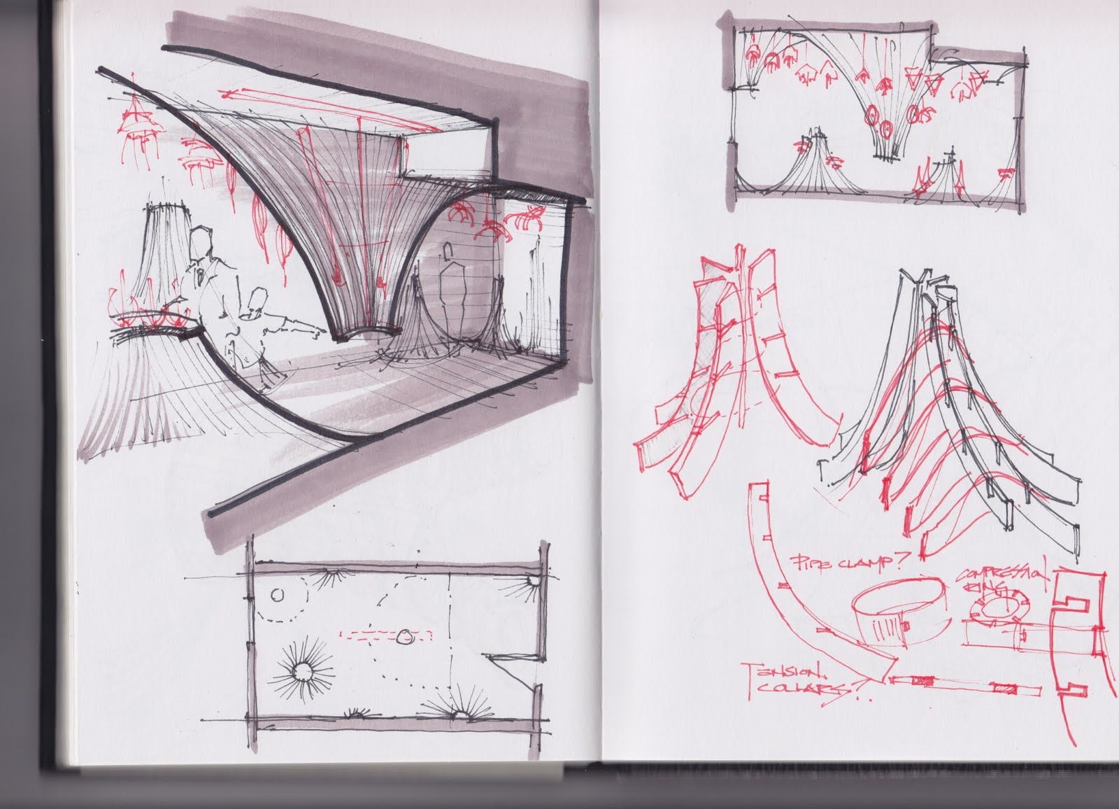 Some General Sketches For The Direction Were Taking Come Up To My Room Installation