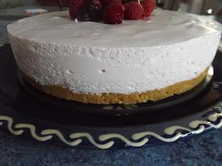 cheese-cake à la purée de fraises