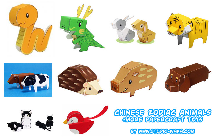 Paper Craft New 330 Papercraft Cute Animals