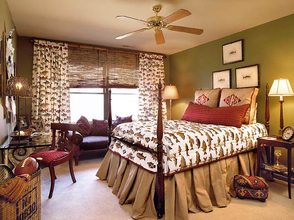 New home interior design green southern living part 3 for Fishing bedroom decor