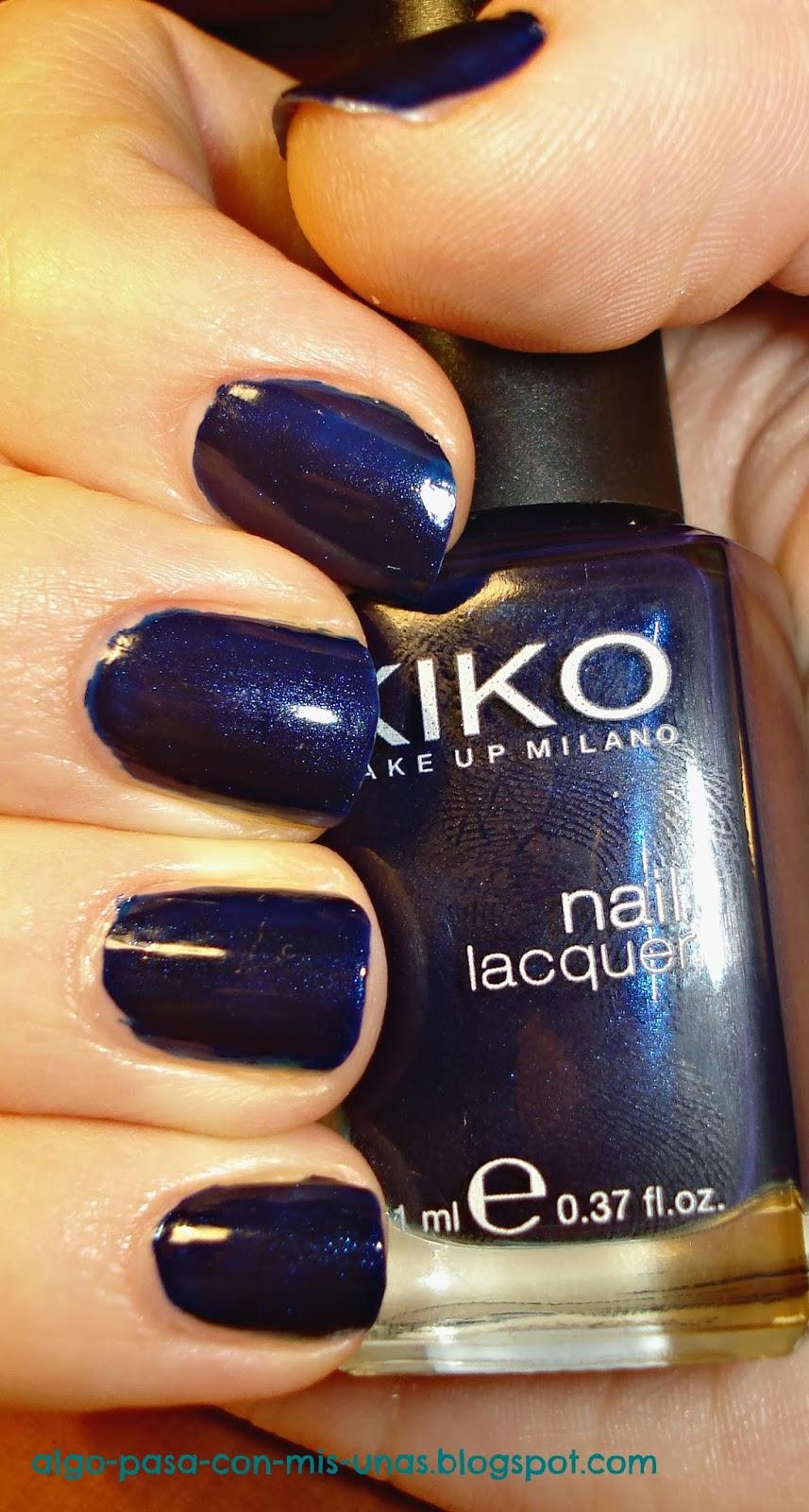Algo pasa con mis uñas: Swatch esmaltes - Kiko 265 China Blue