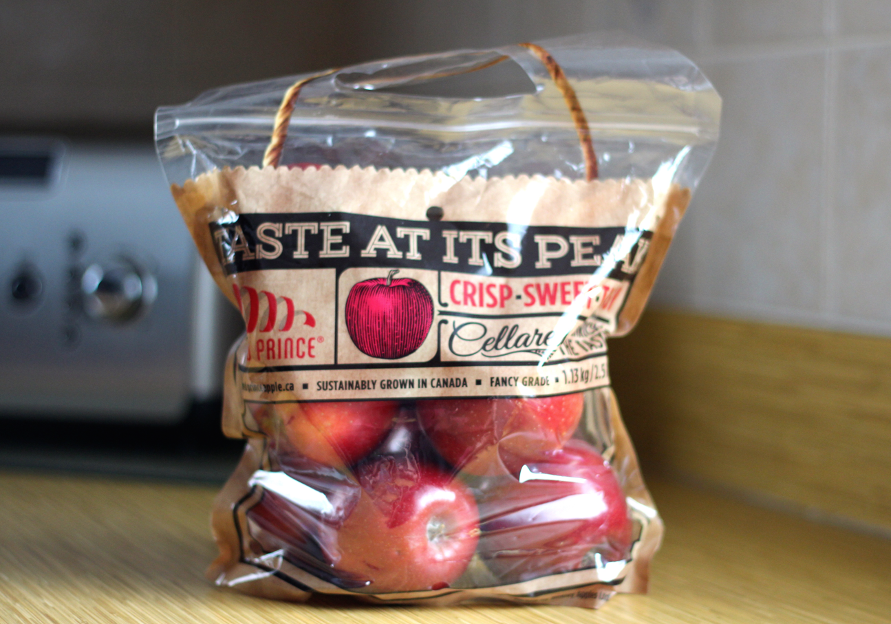 Red Prince Apples in a bag