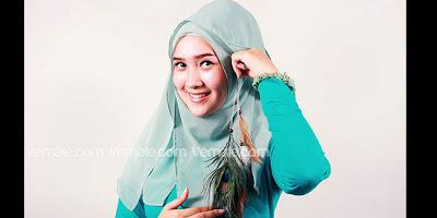 Gambar Cara Memakai Hijab Jilbab Model Terbaru Simpel Modern Gaya Kontemporer
