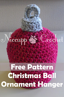 Niccupp Crochet: Free Pattern with Photos for Christmas Ornament Topper
