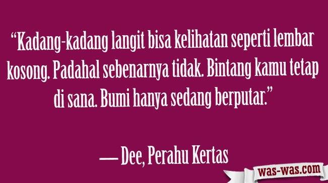 """Kutipan Novel Perahu Kertas Dee lestari"""