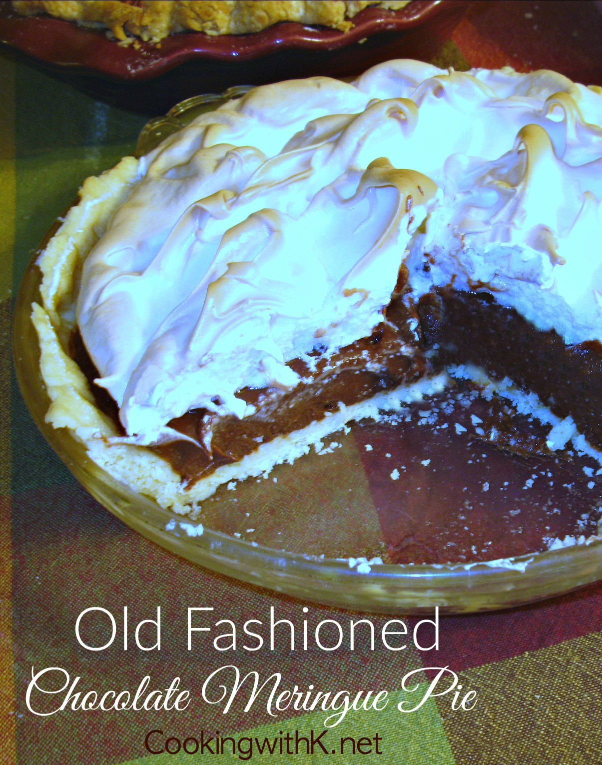 Cooking with K: Old Fashioned Chocolate Meringue Pie