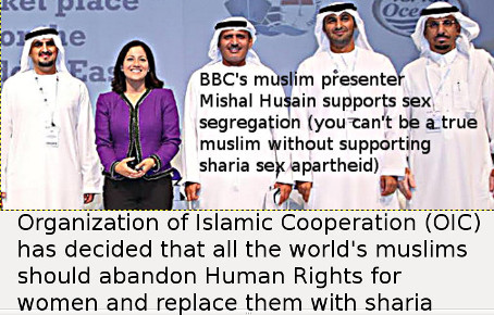Mishal Husain: My way of life under no threat. Klevius: Thanks to Human Rights - not sharia!