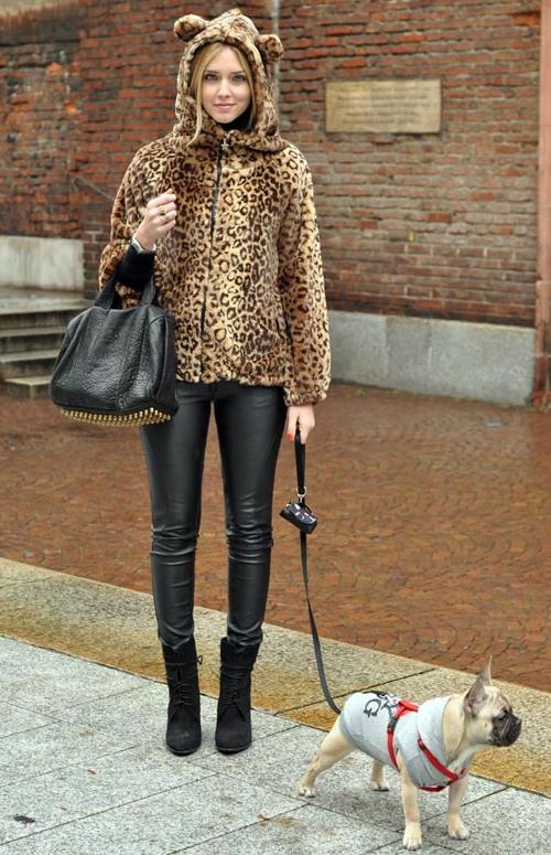 Leopard Print Cat-Eared Hoodie Jacket