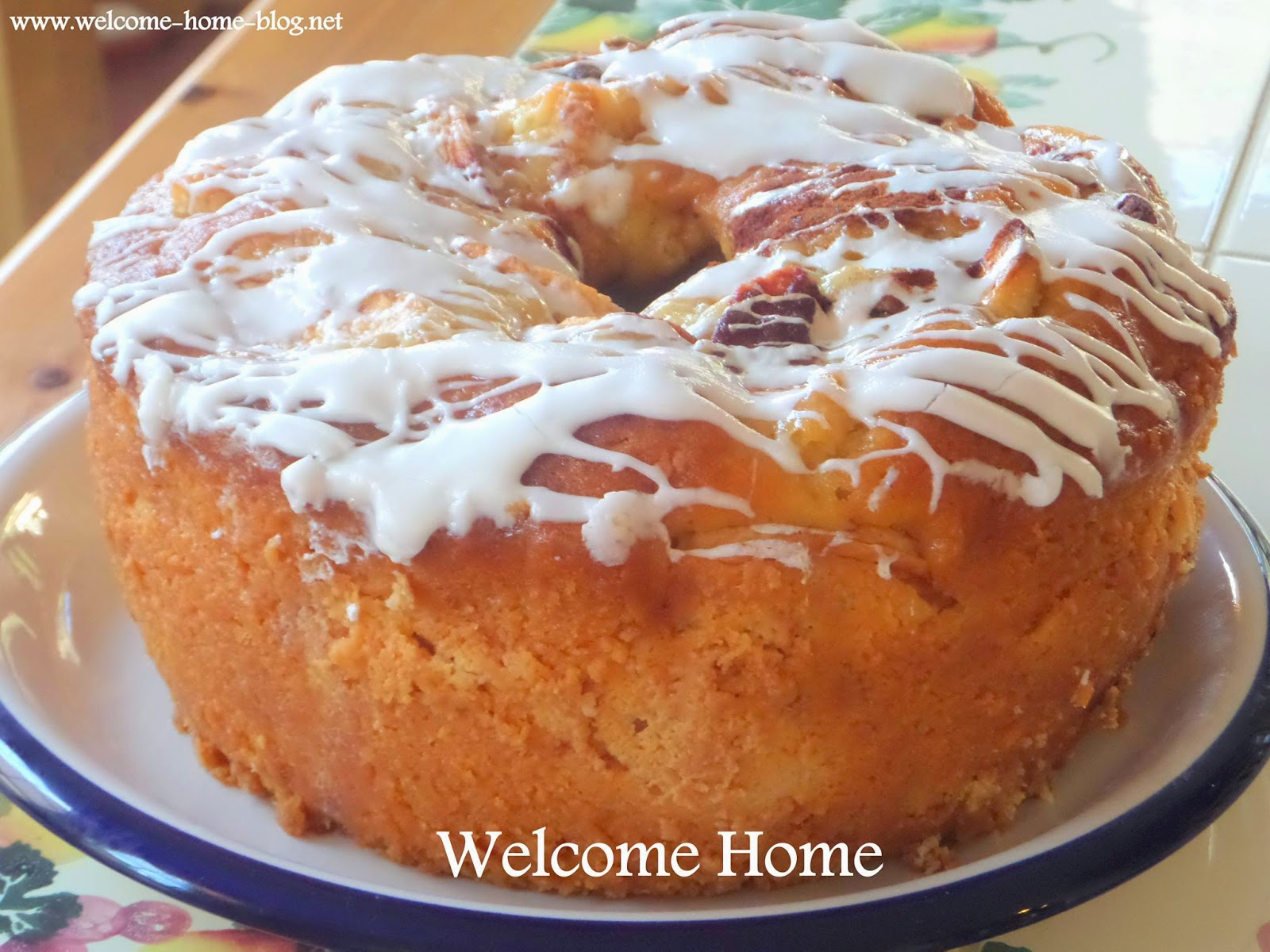 Welcome Home Blog: Homemade Apple Cake with Vanilla Glaze