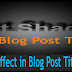 Add Text Shadow Effect in Blog Post Title on Mouse Hover