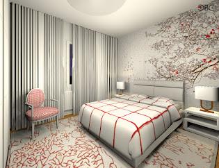 Appartement avec papiers peints