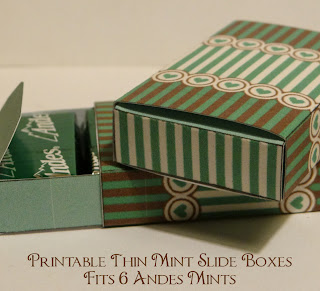 Printable Andes Mint slide box- hearts and stripes