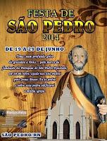 PROGRAMAÇÃO DA FESTA DO PADROEIRO SÃO PEDRO