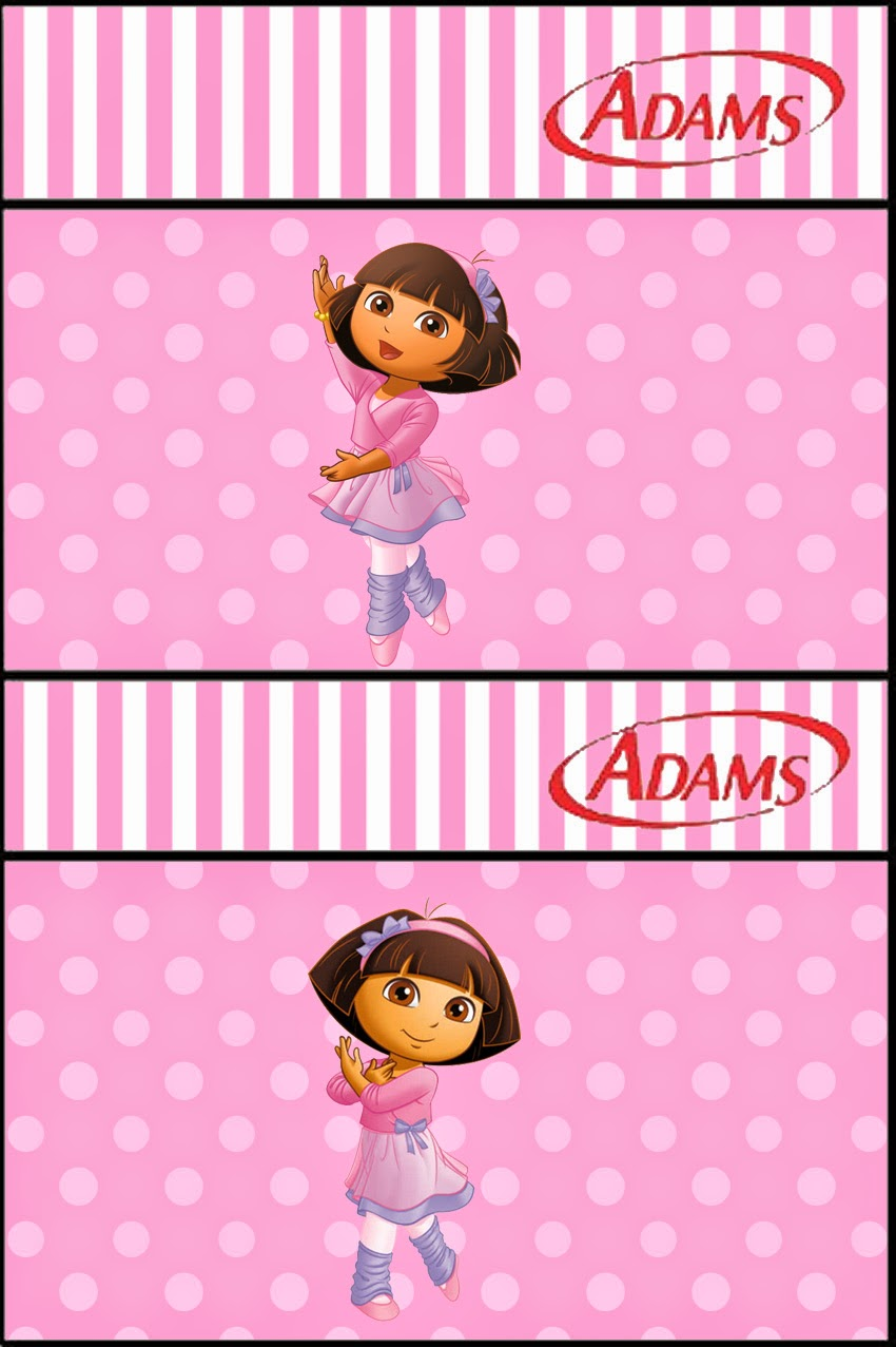 dora dancing ballet free printable candy bar labels is it for