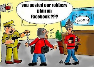 Robbery Plan Posted on Facebook Funny