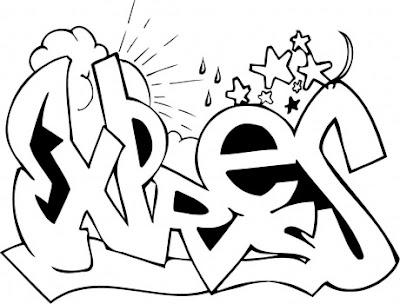 expres-graffiti-coloring-sketches
