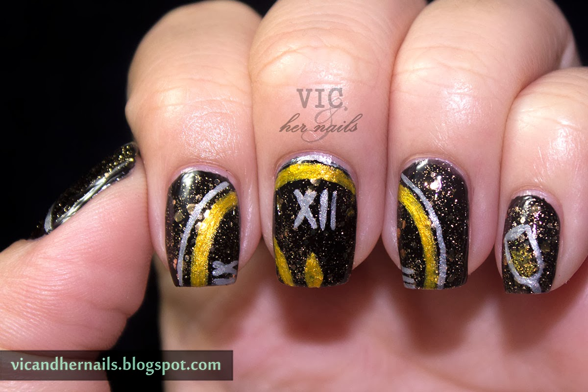 Vic and Her Nails: Christmas Winter Challenge Day 8 - New Year\'s Eve
