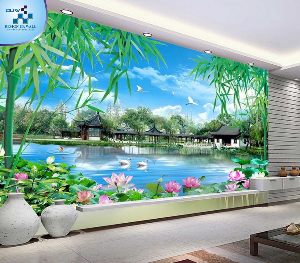 Imported wallpaper merchant colorful wallpaper designs in for Decor mural xxl 4 murs
