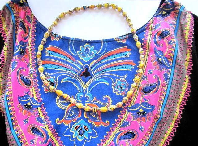 paper pearl necklace paperihelmikaulakoru