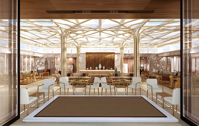 Afternoon light pours in from the glass ceiling of the Wintergarden—the perfect gathering place for afternoon tea. All photos: © Viking Cruises. Unauthorized use is prohibited.