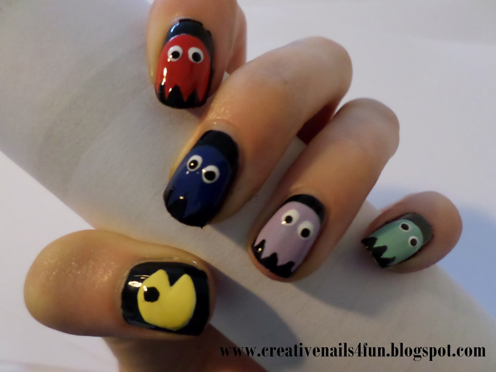 Creativenails4fun how to pacman nails 7g prinsesfo Image collections