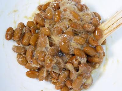 納豆に生姜パウダー(乾燥生姜粉末)