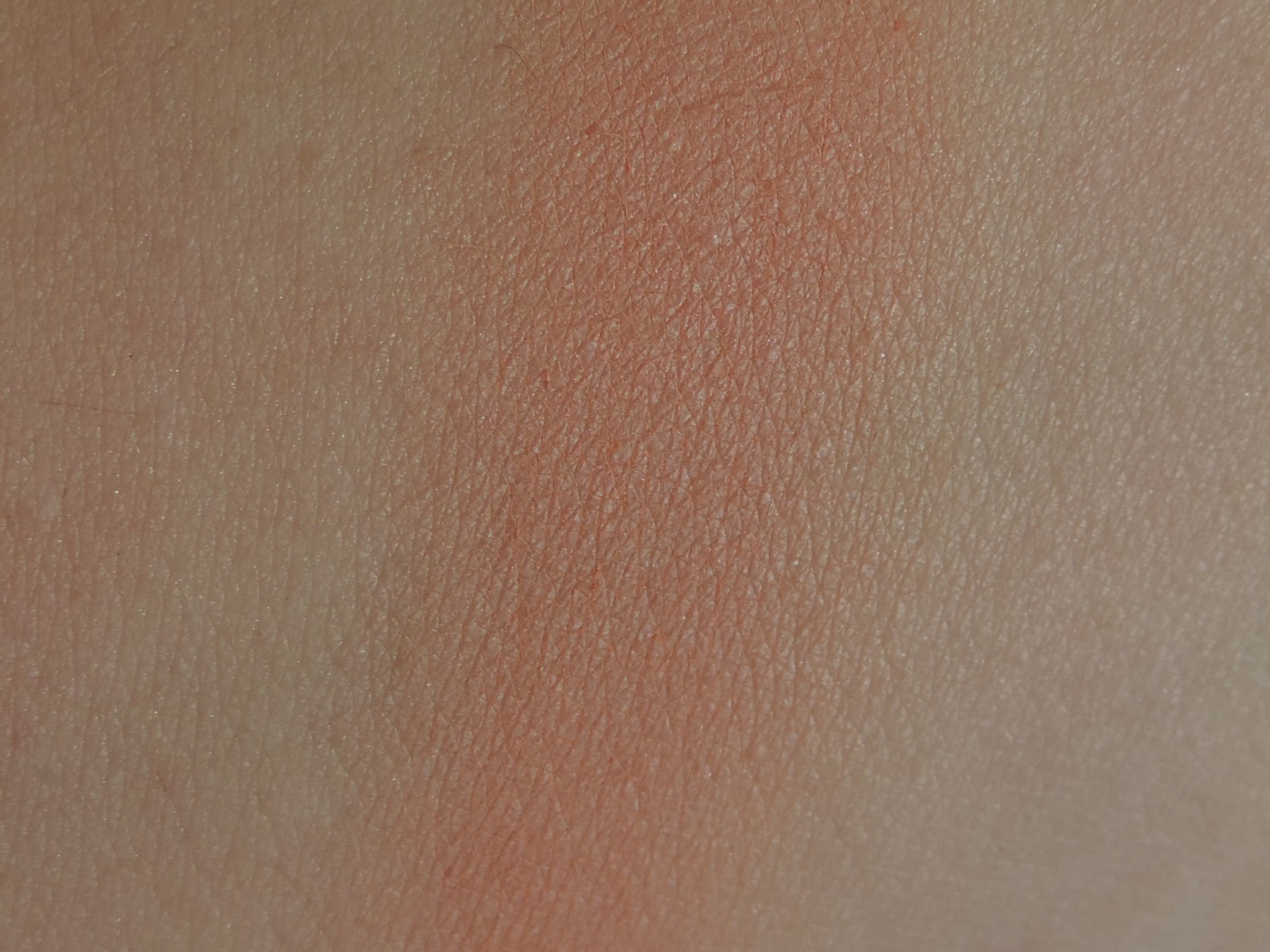 Swatch of Makeup Geek blush in Bliss