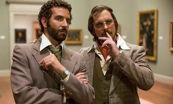 Christian Bale y Bradley Cooper en American Hustle