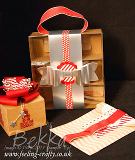 Pretty Christmas Packaging using Stampin' Up! Products - get them here