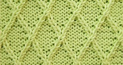 Diamond Lattice Knitting Stitch Patterns