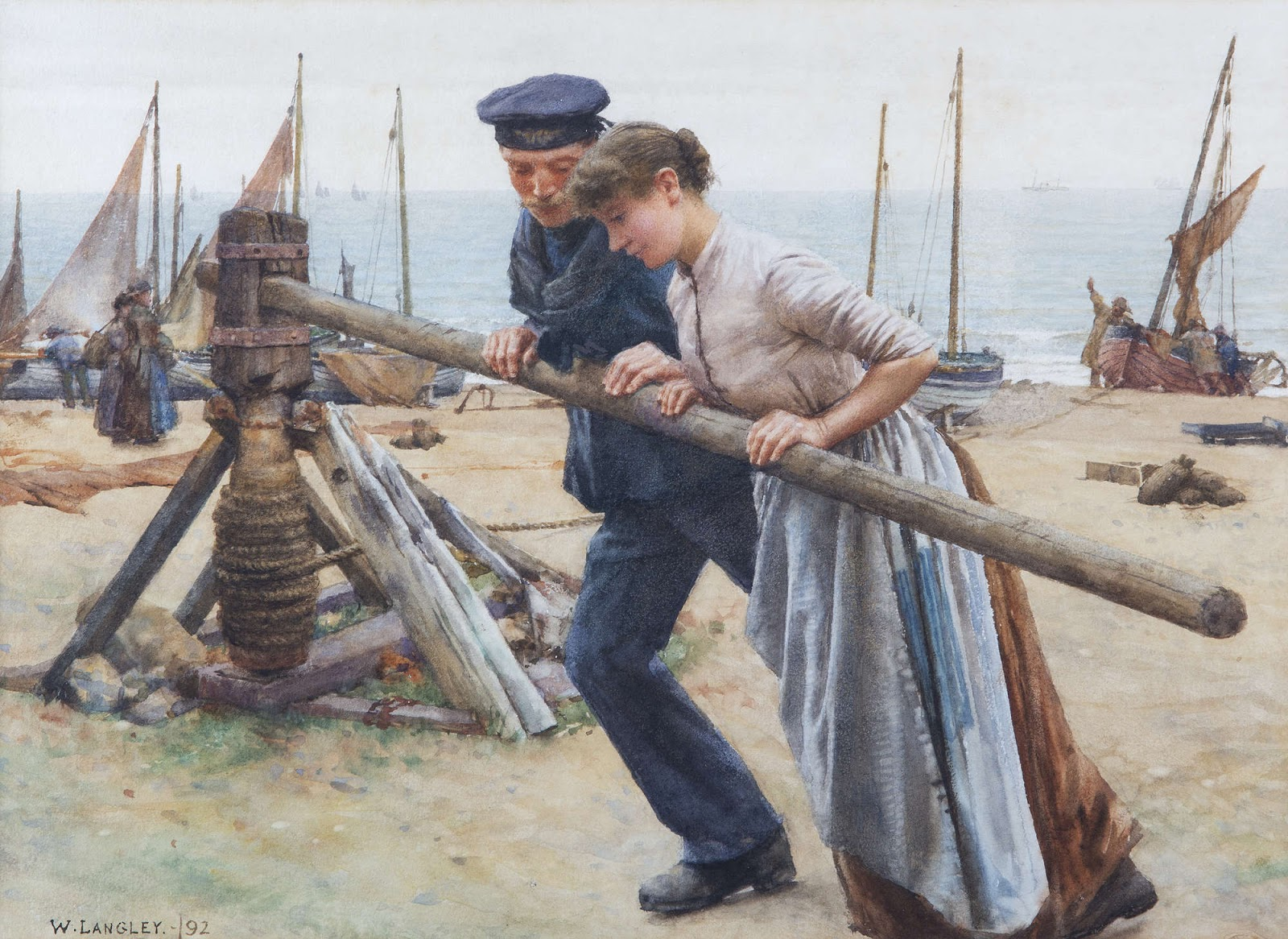 Walter Langley At Capstain