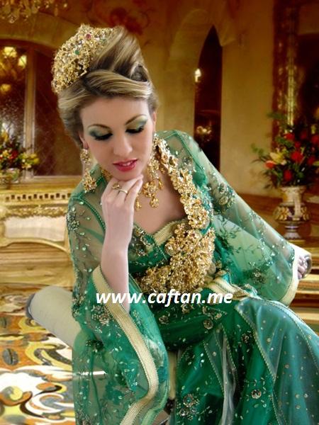 caftan de mariage en vert