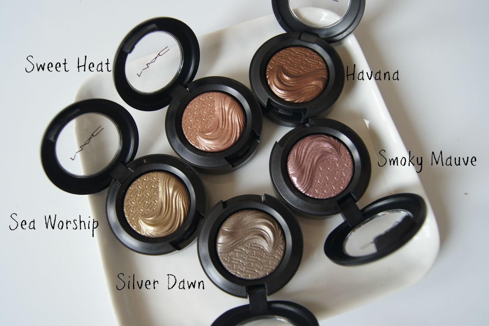 MAC Extra Dimension eyeshadow review