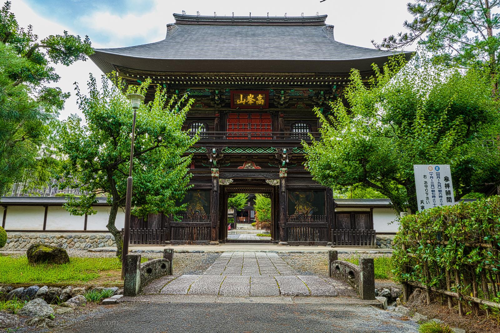 天寧寺、山門の写真