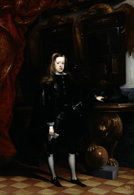 8 reales 1668 de Carlos II. Potosí. Tipo macuquina. Dedicada a Harpomarx Carlos+II