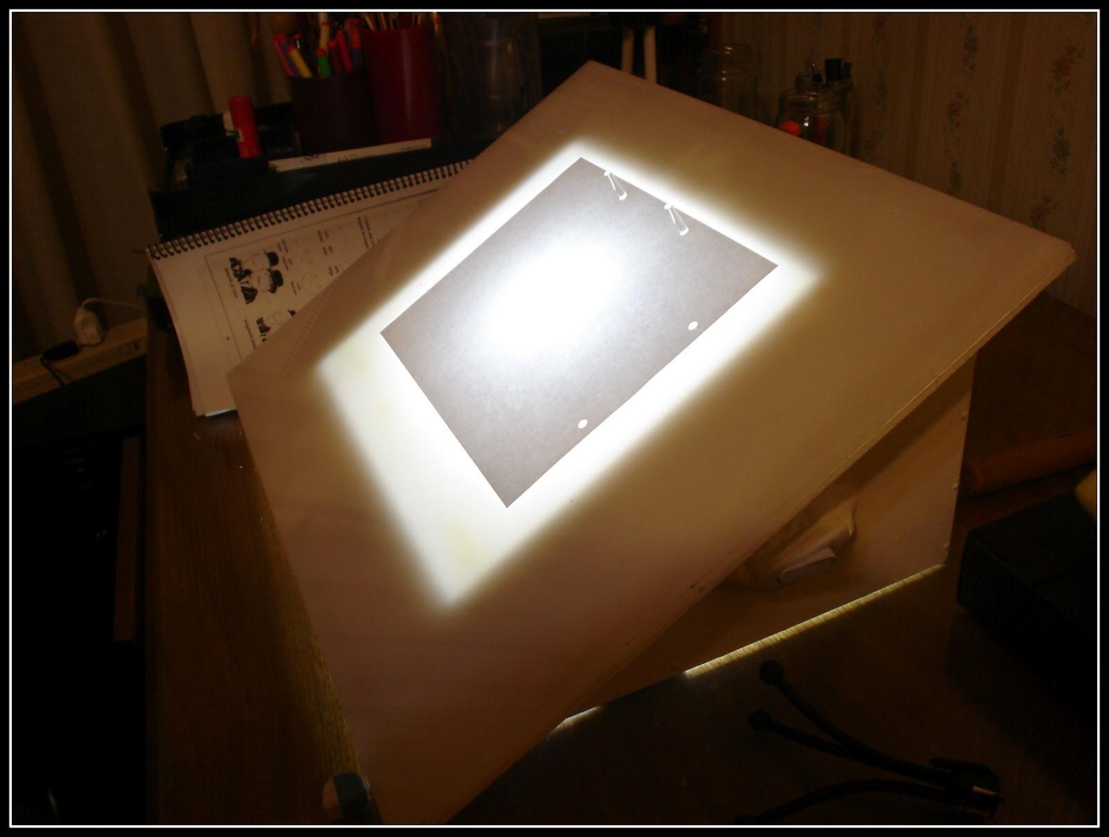 C mo constru r una mesa para calcar dibujo tattoo identi - Mesa de calcar ikea ...