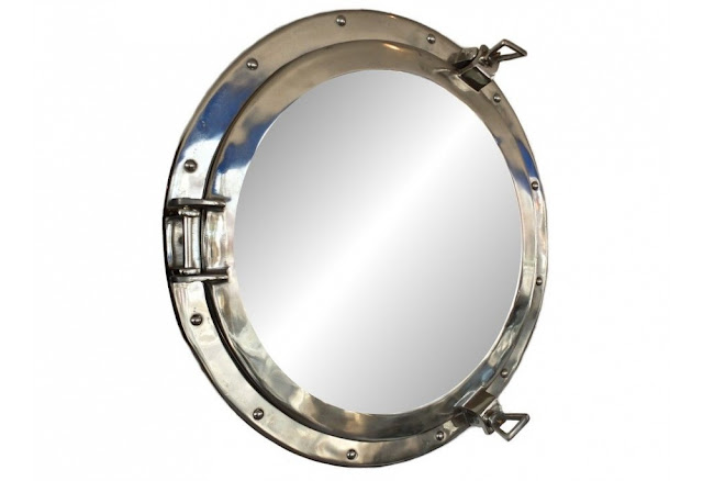 Chrome Decorative Porthole Mirror