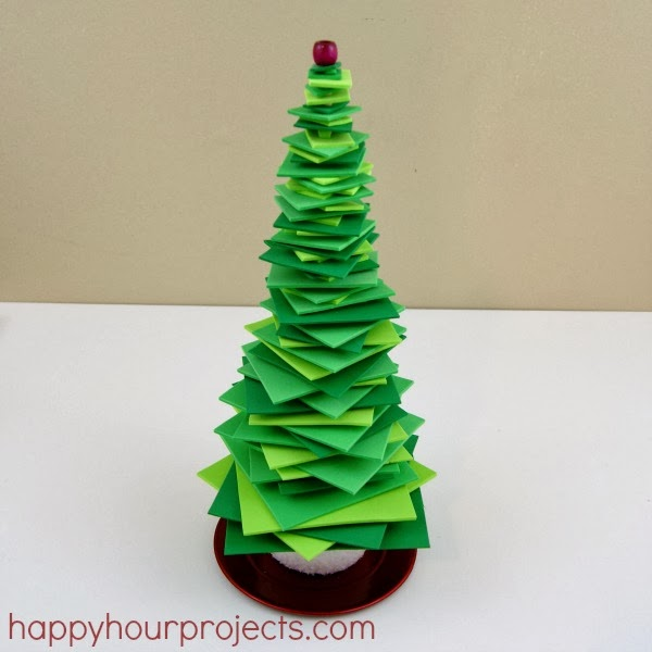 Stacked Foam Square Christmas Trees | Munchkins and Mayhem