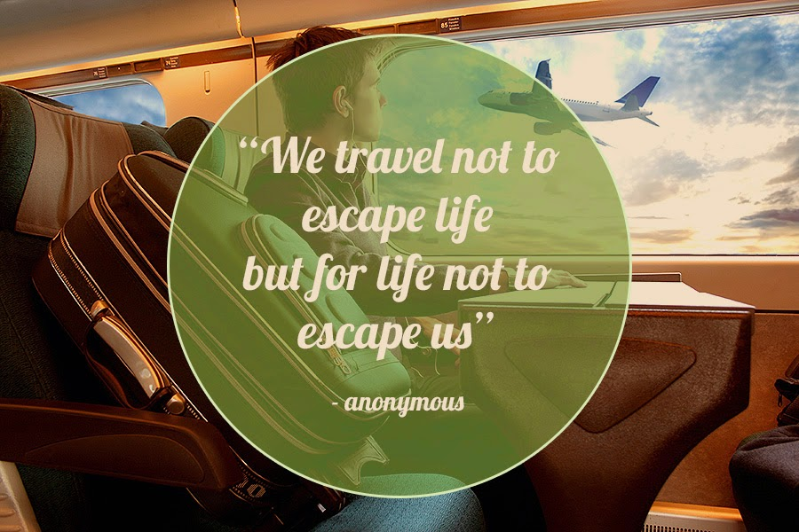 "Art Li and Stuff - ""We travel not to escape life but for life not to escape us"""