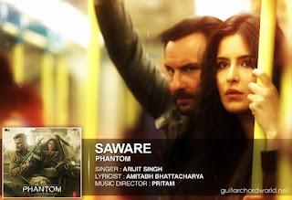 Saware Chords - Arijit Singh | Phantom