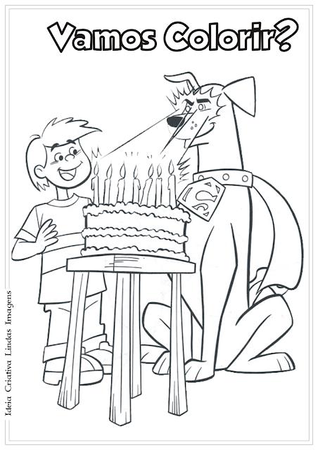 Krypto: O Super Cão - desenho para colorir