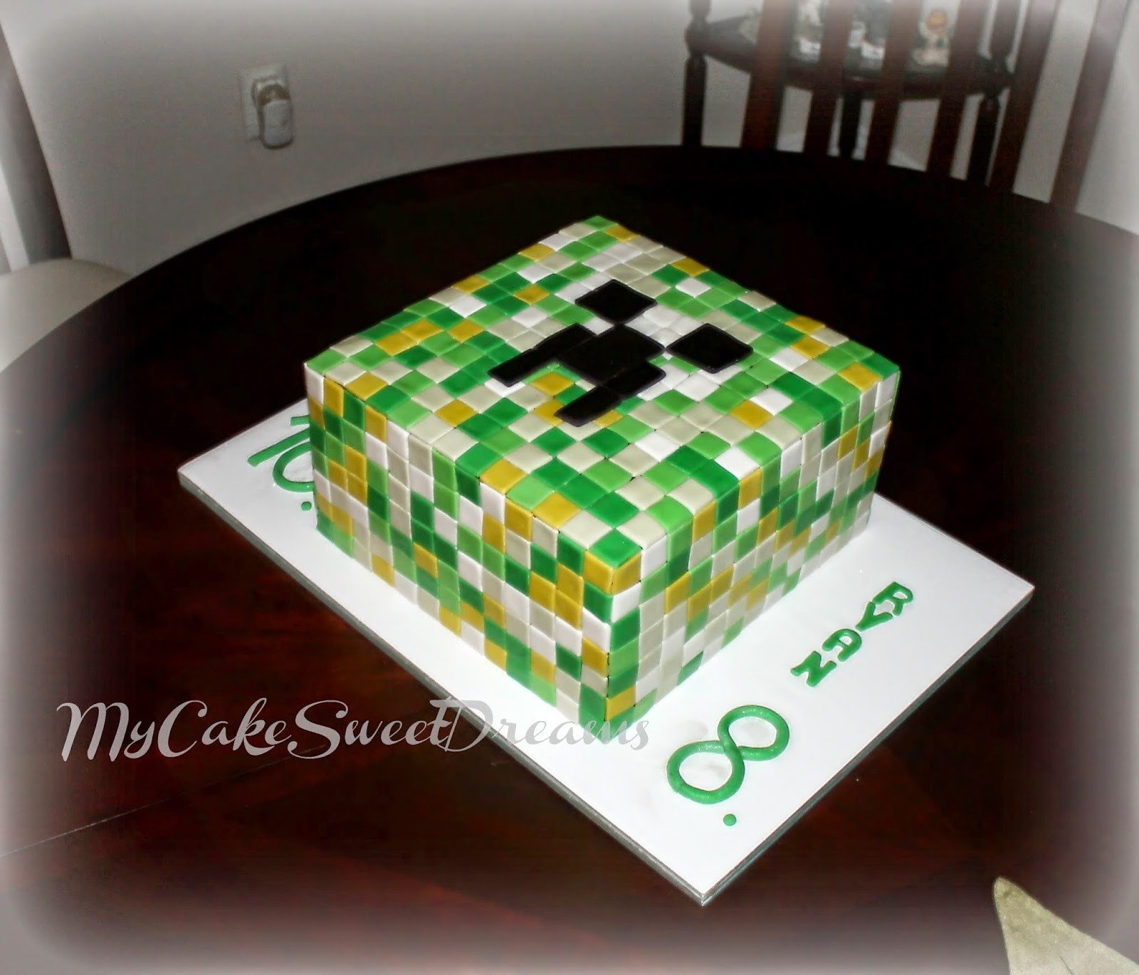 My Cake Sweet Dreams Minecraft Birthday Cake