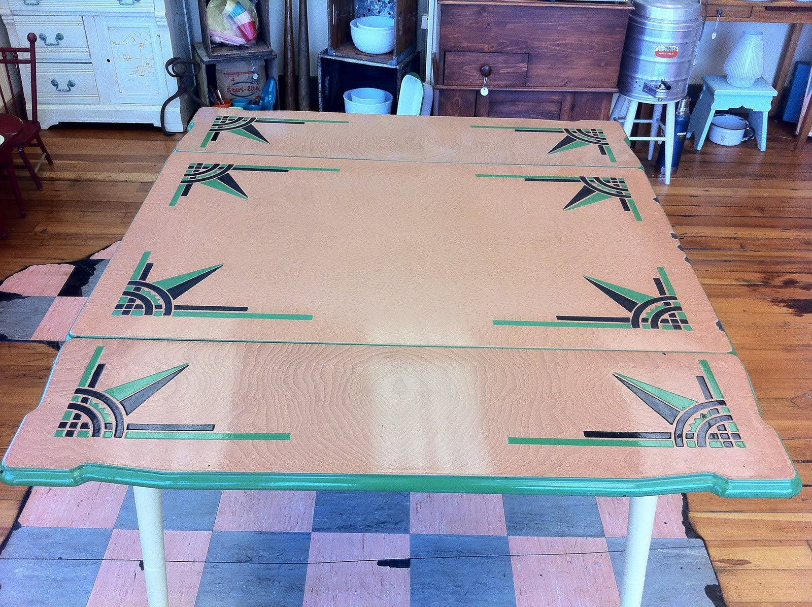 Lost Found Marblehead MA S Enamel Top Farm Table SOLD - The farm table ma